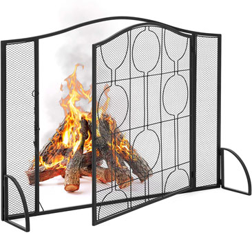 Best Choice Products Single Panel Steel Fireplace Screen