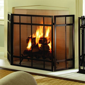 Pleasant Hearth Mission 3 Panel Fireplace Screen